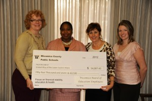 Wicomico County Board Of Ed Recently Presented United Way With Check