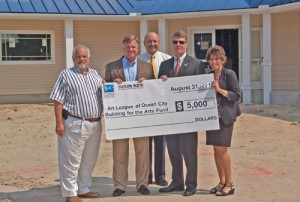 Taylor Bank And IMG Insurance Pledge $5K To Building The Arts Fund