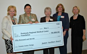 Junior Auxiliary Board Presents PRMC With $50,000 Check