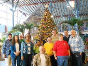 Participants From Easter Seals Enjoy A Holiday Outing