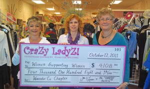 Crazy Ladyz Donates $4,108 To Women Supporting Women