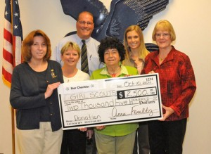 Star Charities Presents Girl Scouts $2,500 Check