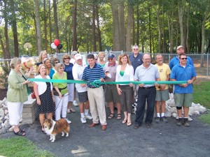 Ribbon Cutting Ceremony For Dog Park Held By OP Chamber