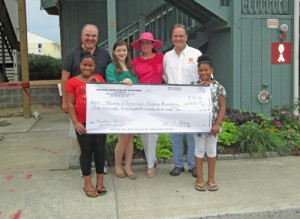 Maryland Jr. Auxiliary Presents Check To OC Children's House And Believe In Tomorrow Foundation