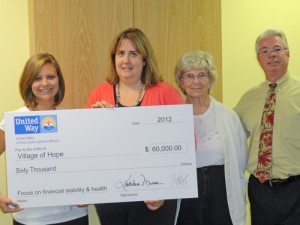 Village Of Hope Received $60,000 From The United Way