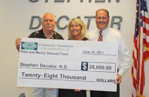 Community Foundation Of The ES Donate $28,000 To Stephen Decatur HS