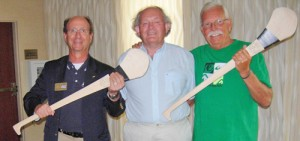 Rotary Club Past Presidents Show Off Hurling Sticks