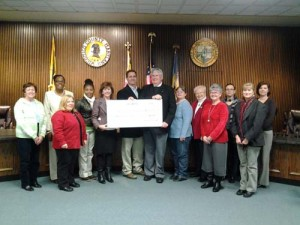 Employees Of Wicomico County Present United Way With Check