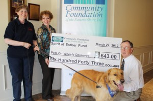 CFES Contributes $643 To Pets On Wheels