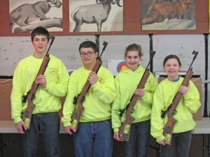 American Legion Post 64 Youth Air Rifle Team has First Competition