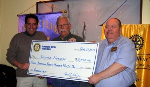 Hudson Accepts Scholarship Check From OC/Berlin Rotary Club