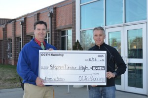 Check Presented To SD High From The Annual Ravens-Steelers 5K Fan Challenge