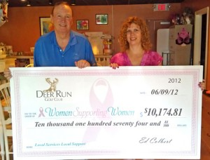 Deer Run Golf Club Presents Check For $10,174.81 To Women Supporting Women