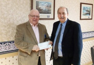 Ward Presented With $1,000 Donation From Atlantic/Smith, Cropper And Deeley