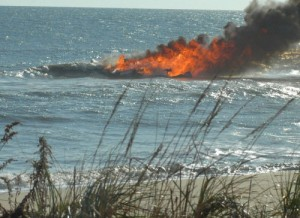 Pair Rescued From Burning Boat
