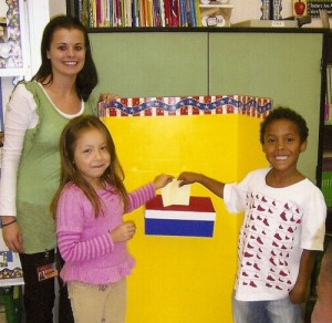 Snow Hill First Graders Learn to Vote