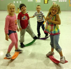 Kindergaten Students At Showell Elementary Engage Their Mind And Bodies