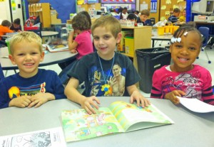 Buckingham Elementary Students Enjoy Buddy Reader Drop Everything And Read Day