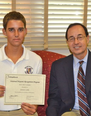 Lobo Honored As One Of The Highest Scoring Students of Hispanic/Latino Decent In The PSAT/NMSQT Testing