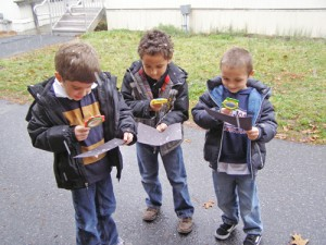Showell Elementary Students Observe Snowflakes Falling