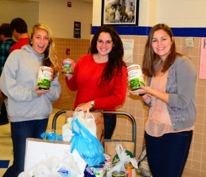 SD High School Seniors Box Canned Goods For Annual Food Drive