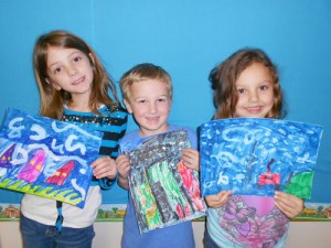 Kindergarten Class At Showell Elementary Learn About Van Gogh