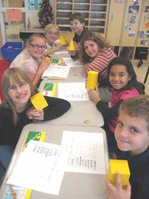 OC Elementary 3rd Graders Work On Three-Dimensional Shapes