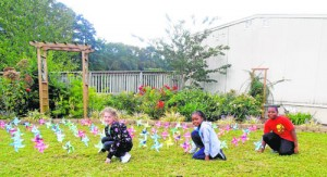 SH Elementary Students Create Pinwheels For Peace