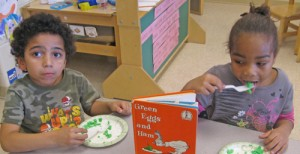 Students At OC Elementary Follow Recipe To Make Green Eggs And Ham