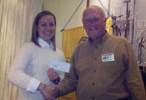 OC/Berlin Rotary Club Presents Anders With Scholarship Check