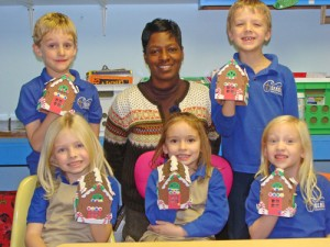 Seaside Christian Academy Students Show Off Their Gingerbread Houses