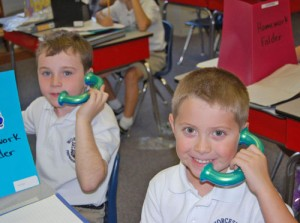 Worcester Prep Students Use Toobaloo Talk Gadgets