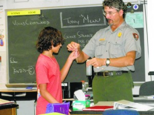 NASA And National Park Service In Assateague Work With SD Seventh Grade Class
