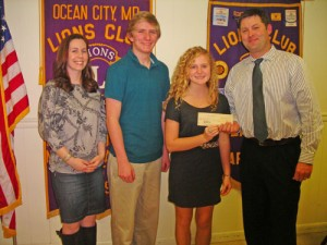 OC Lions Club Presents Check For $1,500 To OC/Berlin Leo Club