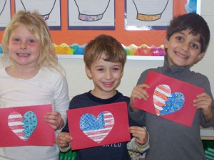 OC Elementary Students Create Valentines Messages For Military Vets