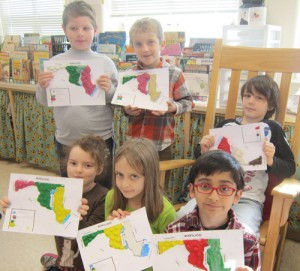 Second Graders At OC Elementary Complete Unit On Map Skills