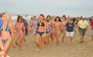 Weather Hurts First-Ever Bikini Parade Turnout