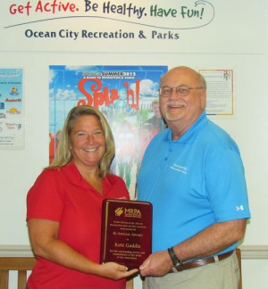 Gaddis Awarded MD Recreation & Parks Bi-annual Outstanding Service Award
