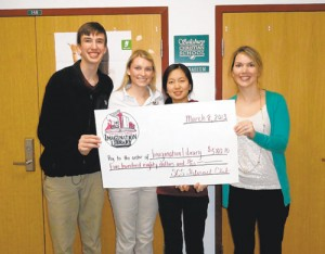 Salisbury Christian School Interact Club Present United Way's Imagination Library With Check