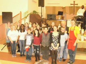 Stephen Decatur Middle And High School Students Volunteer At St. Peter's Lutheran Church