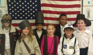 Second Grade Students At OC Elementary Dress Up For Famous American Presentations