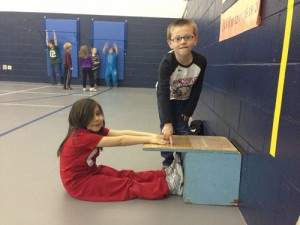 OC Elemenatry Kindergarteners Work On Their Spring Fitness Testing