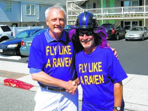 Senator Mathias, Walks In Council Of Baltimore Ravens Roost Annual Parade