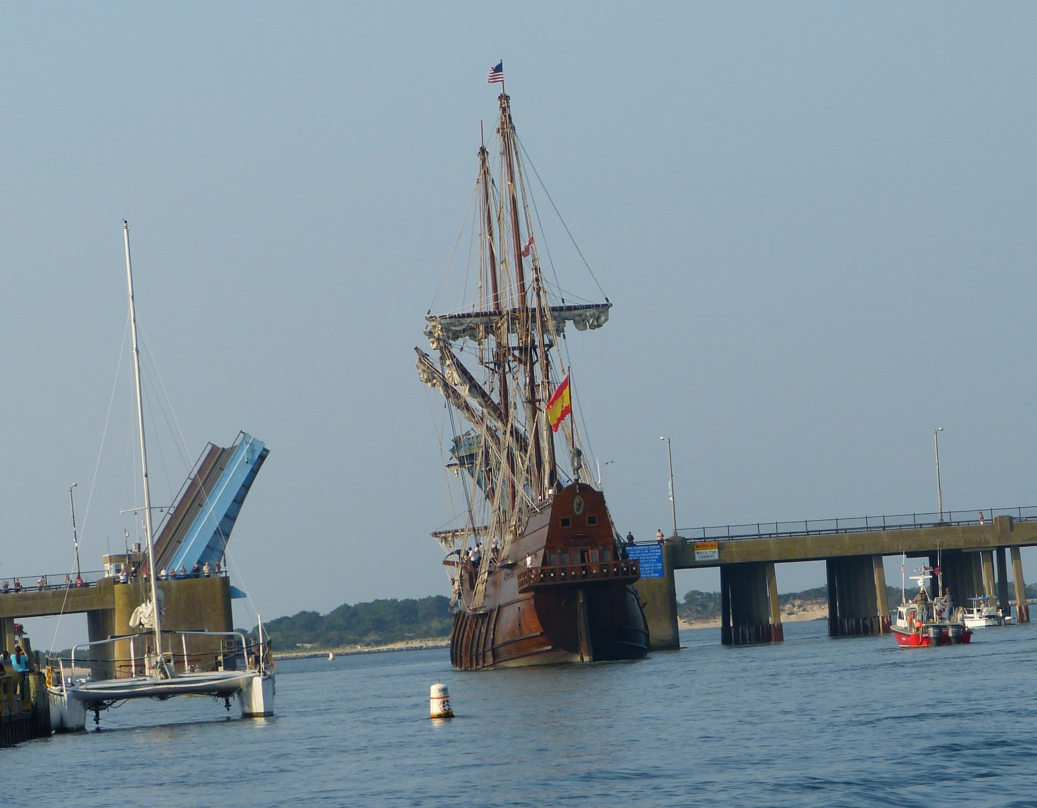 The El Galeon is pictured leaving Ocean City on Sept. 3. Photo by Mike Adkins