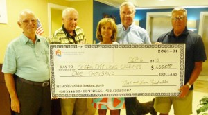 Fritschle Group Donates $1,000 To OC Lions' Wounded Warriors Fund