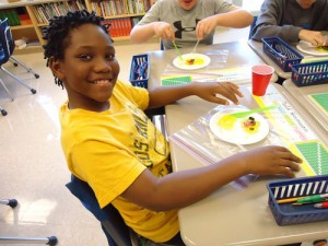 Fourth Graders At OC Elementary Make Animal Cell From Gelatin