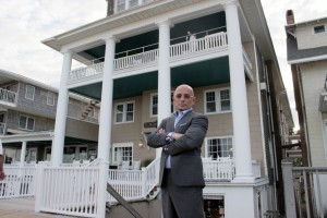 Hotel Impossible host Anthony Melchiorri  is pictured in front of the Lankford Hotel. Photo by Travel Channel