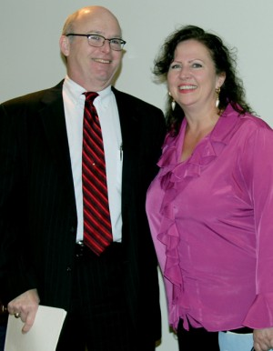 Elsworth Wheatley is pictured with his sister, Cathy Morgan, at a recent celebration in his honor. Submitted Photo