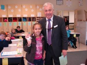 County Commissioner Bud Church Visits OC Elementary Classroom