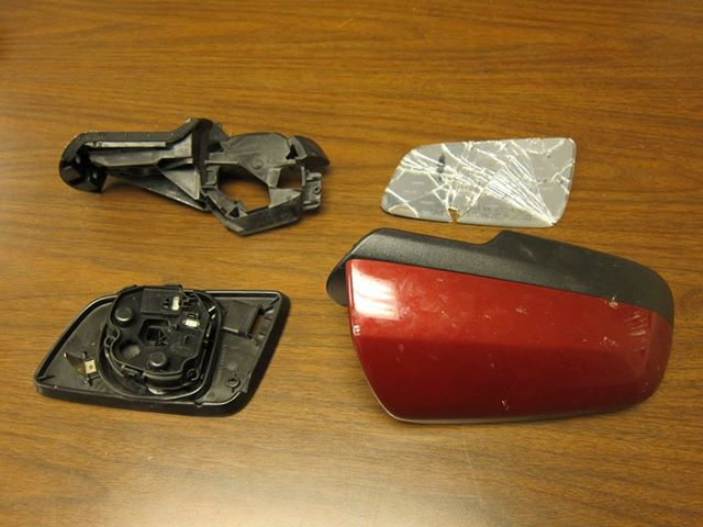Parts of the vehicle recovered from the scene of the weekend hit-and-run accident on Route 611 are pictured.